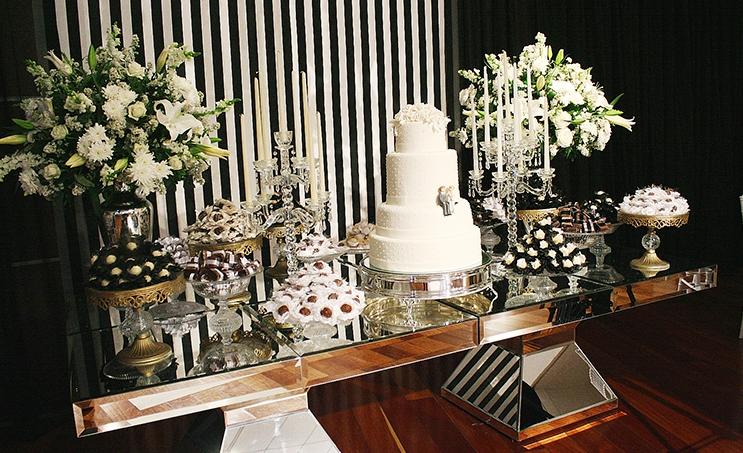 festa de casamento decoração simples