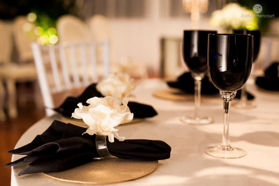 Festa de Casamento preto e branco Flávia e Márcio